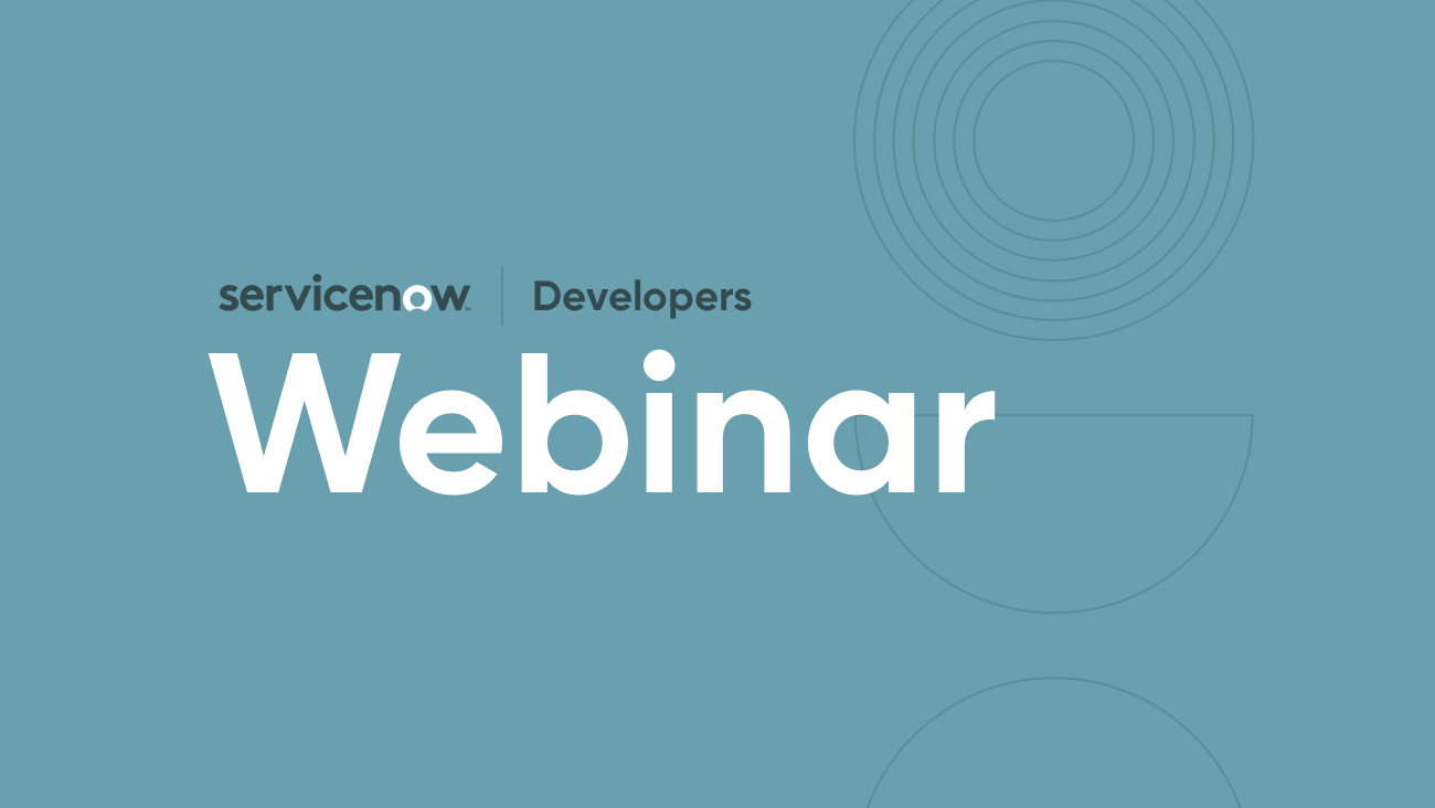Events | ServiceNow Developers