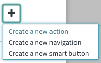 New Actions Dropdown