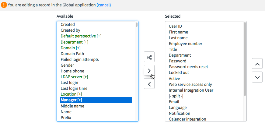 how to add a choice field service now