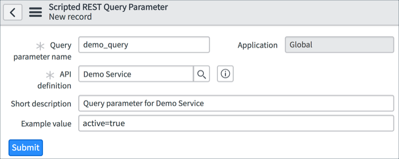 Request Headers and Query Parameters   ServiceNow Developers
