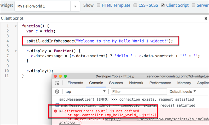 Using the Client-side Widget API | ServiceNow Developers