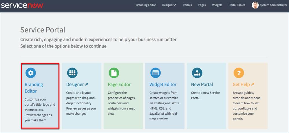 branding a service portal servicenow developers