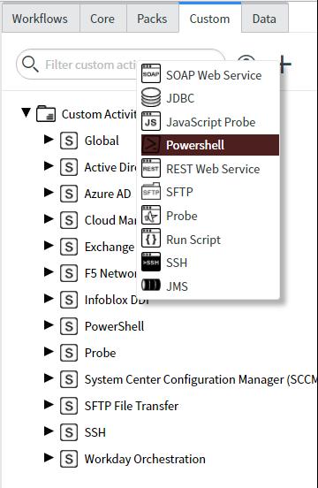 Create a Custom PowerShell Command Activity | ServiceNow