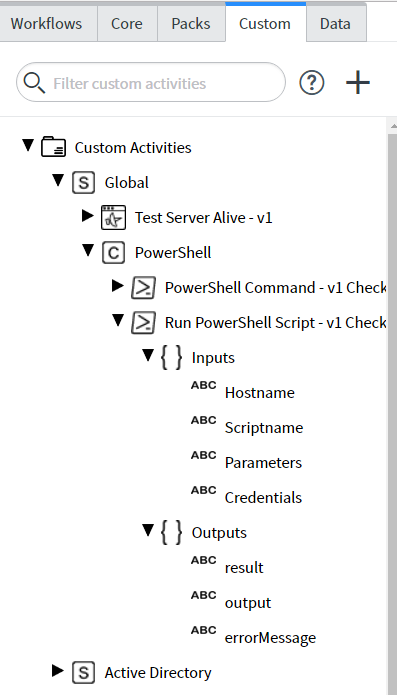 Create Custom PowerShell Script Activity | ServiceNow Developers