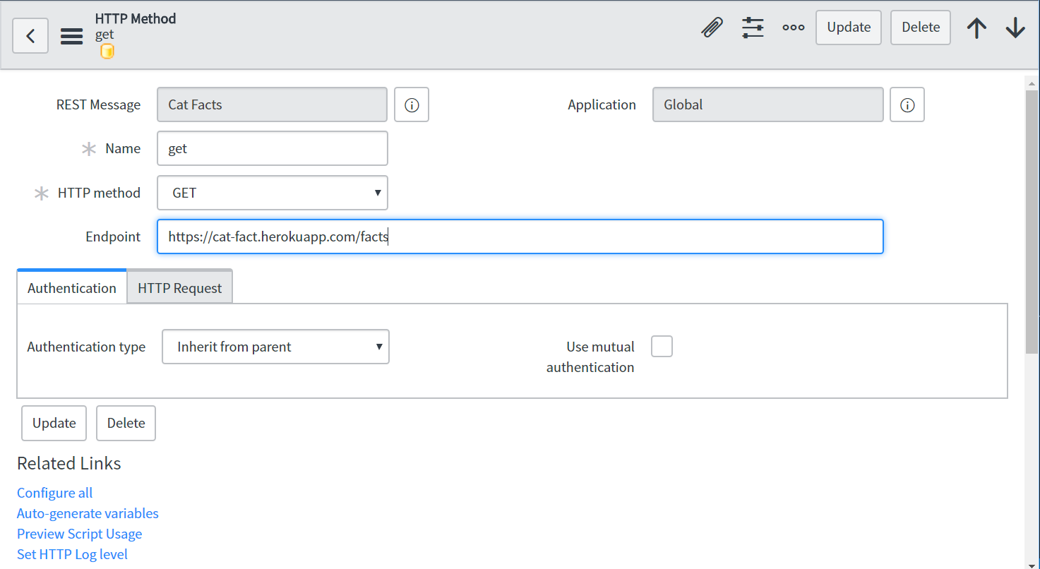 REST Web Services and JSON | ServiceNow Developers