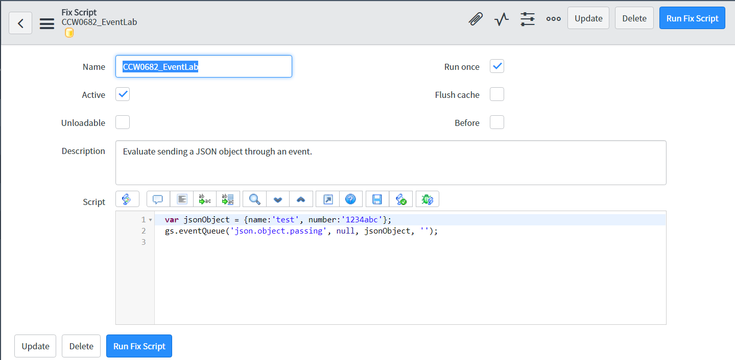 Using Events With JSON | ServiceNow Developers