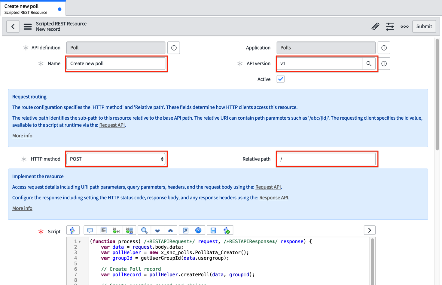 Section 3: Request & Response API | ServiceNow Developers