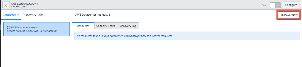 Configure Cloud Discovery to populates the CMDB with Cloud