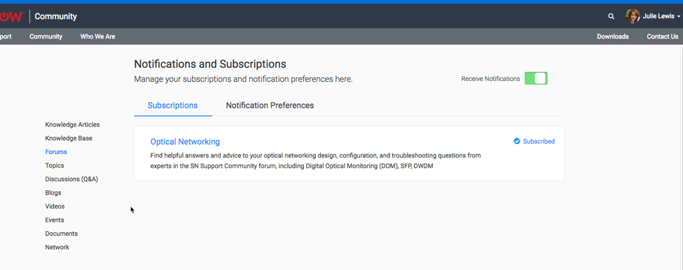 Communities: Asking Questions & Forum Subscription